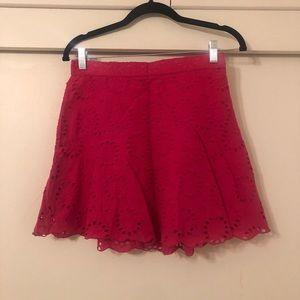 Zara Hot Pink Lace Skirt
